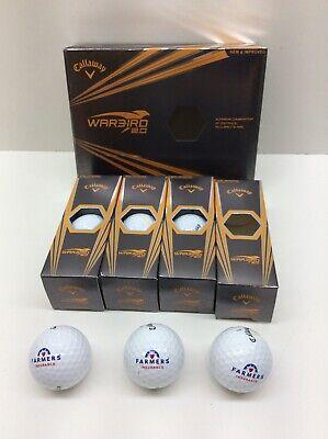 Callaway Warbird 2.0 Golf Balls One Dozen Farmers Logo