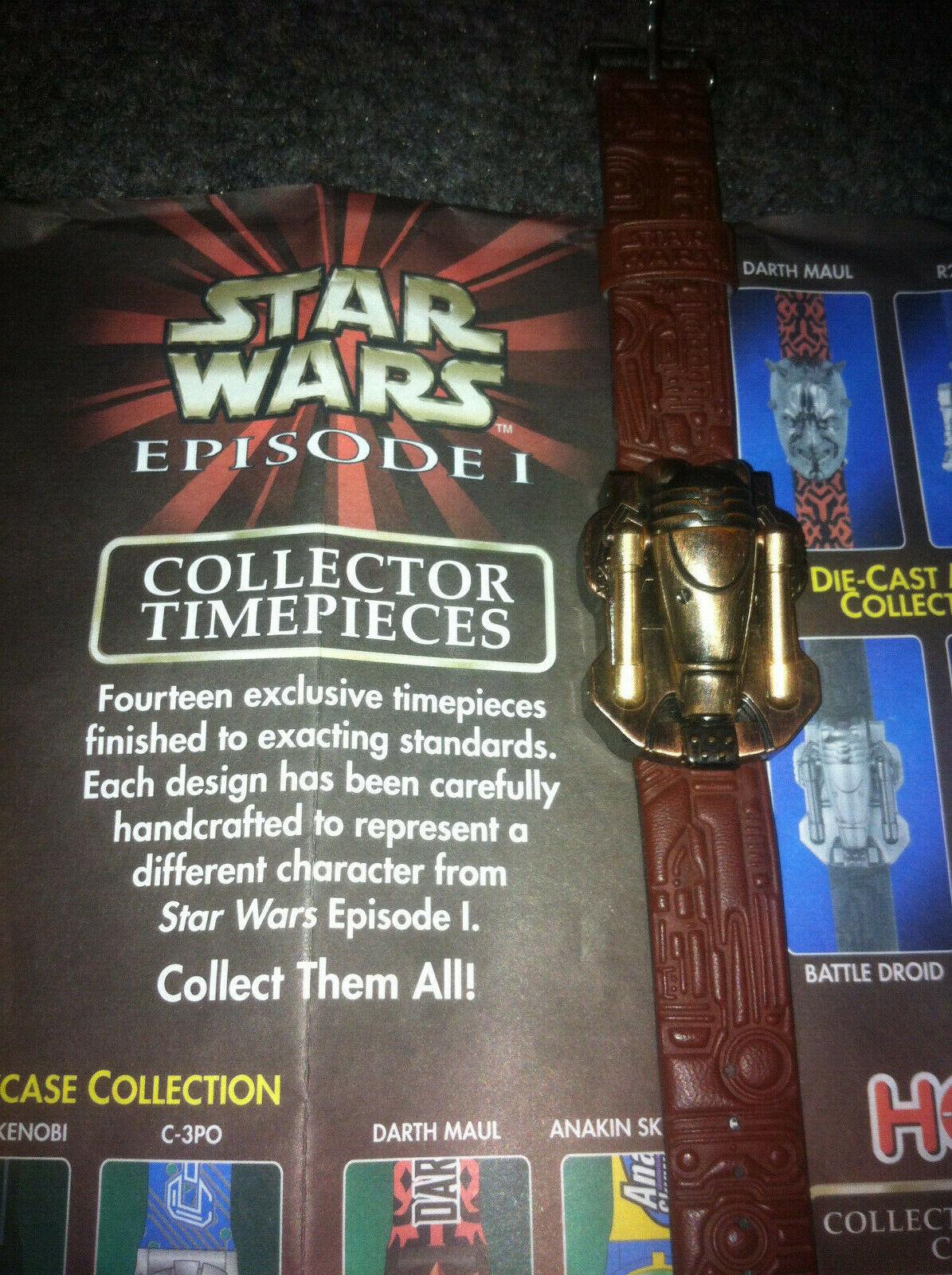 Star Wars Episode 1 Collector Timepiece W/ Metal Case Die-cast Battle Droid  - $10.00