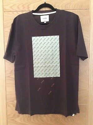 HYMN London mens t shirt new with tag size M colour-chocolate plum