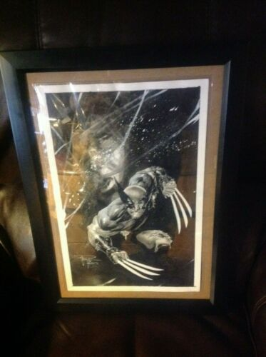 -wolverine  original  painted art  - philip tan   signature  plus  reflection ,