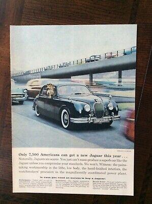 1958 vintage original ad Jaguar 3.4 Sedan