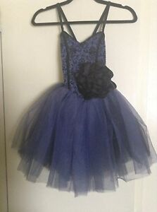 Blue and black ballet costume