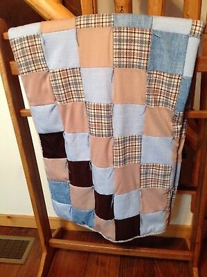 Amish Hand Made Block Quilt 75 1/4