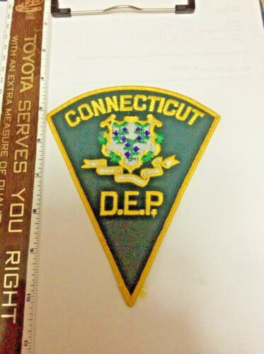 Connecticut Department Environmentl Protection DEP DNR Police Shoulder Patch New