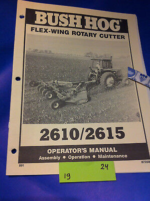 Bush Hog Model 2610 2615 Rotary Cutter Operation Assembly Catalog Manual Book