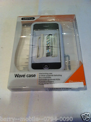 Iphone 3G & 3GS Case White WAVE / Cover / Hard Shell Protection by Griffin Elan Iphone 3g Wave