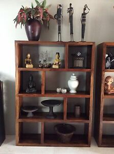 Wooden display shelving unit Peregian Beach Noosa Area Preview