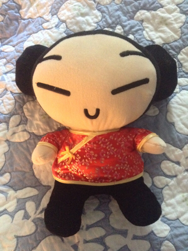 """Sonokong Pucca Asian Anime Plush Doll Made In China About 10"""""""
