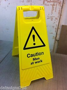 Caution men at work (Health And Safety Sign)