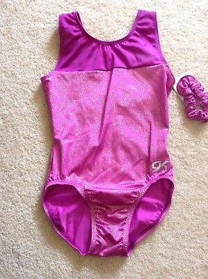NWT GK Elite Purple Plum Shimmer Racer Back Gymnastics Leotard Child & Adult Sz](Plum Childrens Clothing)