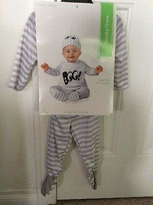 3 Pc New Infant Ghost Halloween Costume Size 6-12 months Baby Ghost Costume Booo
