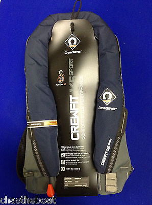 New Life jacket Crewsaver Crewfit 165n Sport Auto with Harness Navy Lifejacket