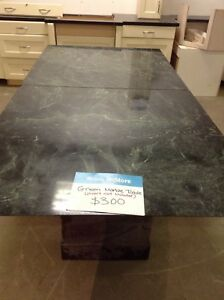 Green marble table @restore scarborough