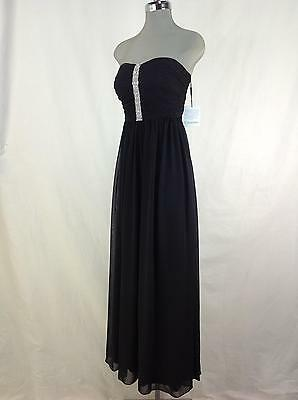 Calvin Klein NWT Black Timeless Elegant Dress Clear Crystals decoration 4 6 8 10 (Special Occasion Decorations)
