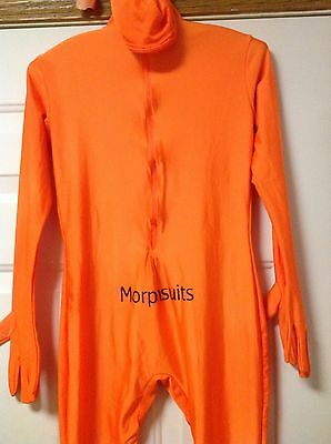 Morphsuit Bodysuit Size Medium in solid Orange 13% Spandex and 87% Polyester