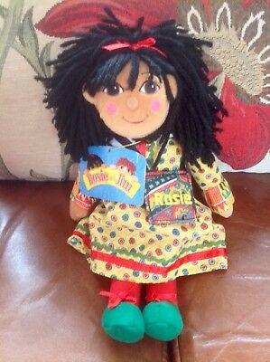 "Rosie & Jim Plush Toy Figure 10"" Rosie Beanie Rag Doll - New - Tag!!!"