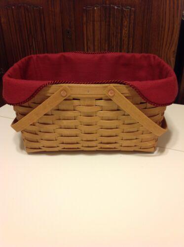 Medium Market Basket Liner from Longaberger Paprika Fabric