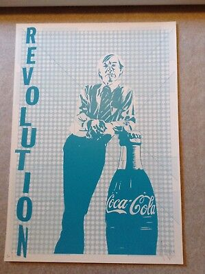 Andy Warhol Revolution (Pure Evil signed print Art Car Boot 2018 Revolution, Andy Warhol and coke bottle)