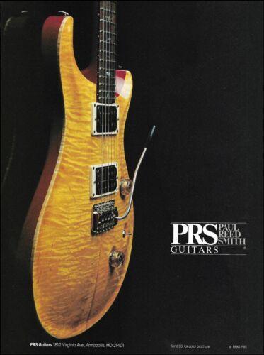 Paul Reed Smith Guitars 1990 advertisement 8 x 11 PRS guitar ad print
