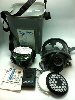 Full Face Respirator Gas Mask Nbc Kit Full View Filter Voice Amplifier Speaker