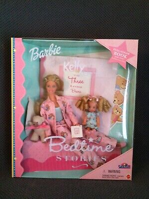 Bedtime Stories Barbie Kelly Dolls NRFB Gift Set Toys R Us Exclusive 2000