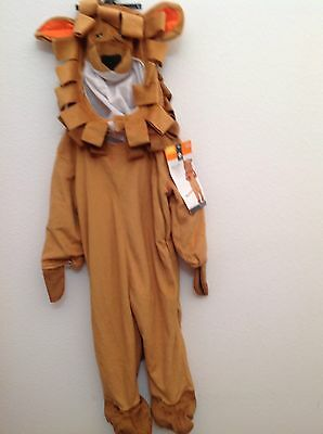 Toddler Lion Halloween Dress Up Costume Complete Hooded Size 12-24 Months New! - Lion Toddler Halloween Costumes