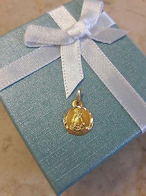 14K  Yellow Gold Small Religious Our Lady Of Charity Pendant Caridad Del Cobre