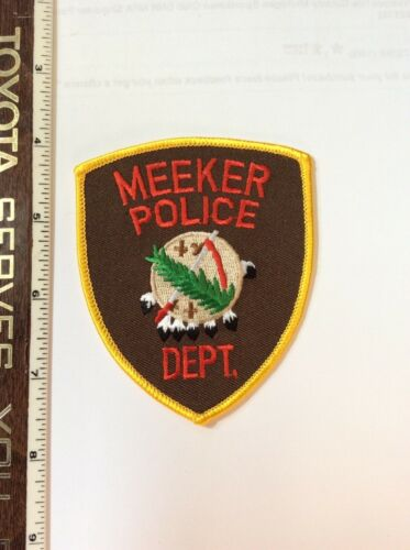 Meeker Oklahoma Police Shoulder Patch New