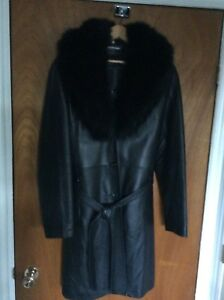 Woman's leather winter coat XL (14-16)