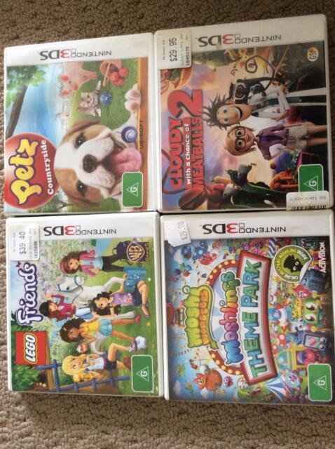 Nintendo 3ds Games Lego Friends Moshi Monsters Petz Cloudy