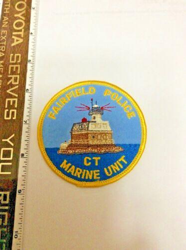 Fairfield Connecticut Marine Unit Police Shoulder Patch New
