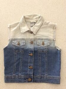 Girls Denim Vest-Size 12 Austins Ferry Glenorchy Area Preview
