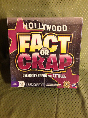 New in Packaging Hollywood Fact or Crap Celebrity Trivia Game - Adult Trivia Games