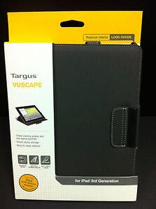 Targus iPad 4 iPad 3 2 Vuscape Folio Flip Book Case w Stand Cover Charcoal Gray
