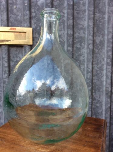 598 Early French white glass demijohn carboy Bonbonne Dame Jeanne