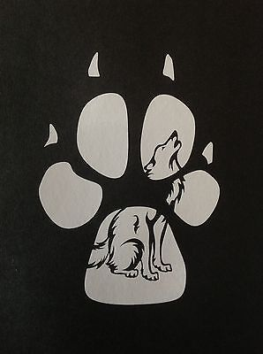 SLED DOG SPIRIT PAW SIBERIAN HUSKY ALASKAN MALAMUTE WOLF STICKER DECAL HUSKIES