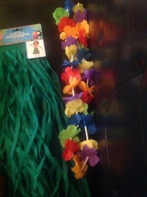 Sexy Hawaiian Party Luau costume Kit skirt,bikini top,Leis,+pineapple (Hawaiian Luau Party Kostüm)