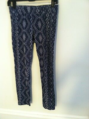2 American Eagle Outfitters Old Navy women's size medium M blue leggings lot  Old Navy Outfitters