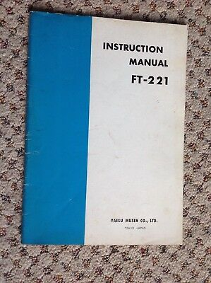 Used, Factory Yaesu FT 221 HF Ham Radio Owner's Manual With Schematics & Parts List for sale  Saco