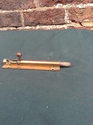 Vintage Brass Slide Bolt