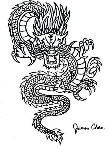 CHINESE DRAGON ORIGINAL HAND DRAWN FINE ART BY COMIC BOOK ARTIST JAMES CHEN