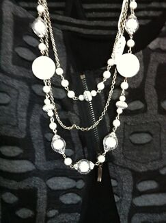 2 New Purple & Cream Necklaces Sidmouth West Tamar Preview