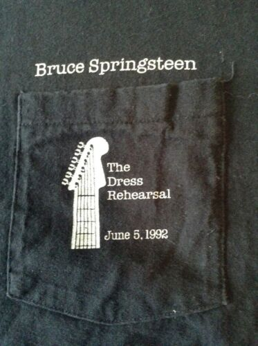 Bruce Springsteen June 5, 1992 Dress Rehearsal T-SHIRT The Boss!