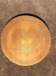 Papua New Guinea 1978 carved wooden round table interlocking legs Port Macquarie Port Macquarie City Preview