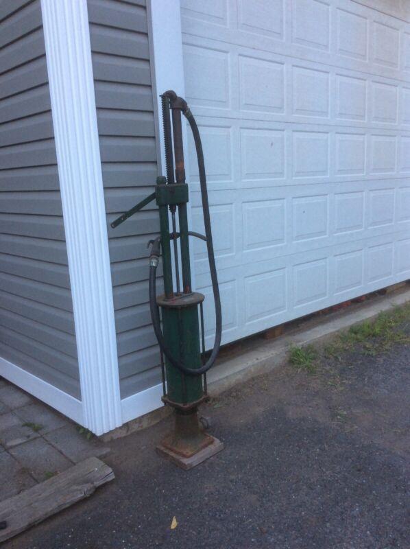 Vintage Original Antique Gasboy Gasoline Gas Pump Iron Base Solid Brass Nozzle