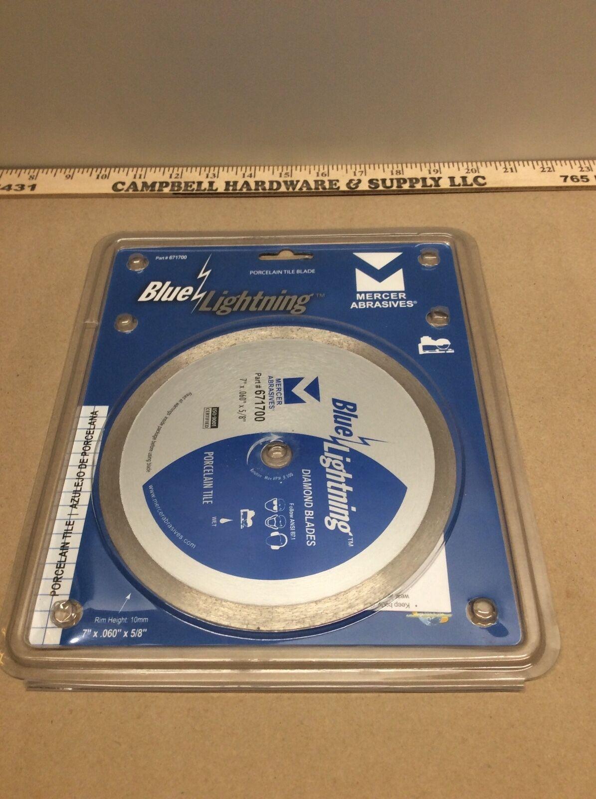"""Mercer Abrasives Diamond Blades 7/"""" x .060/"""" x 5//8/"""" Porcelain Tile #671700"""