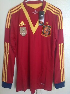 Spain Player Issue 2013-2015 Home Shorts by Adidas BNWT Adults XL