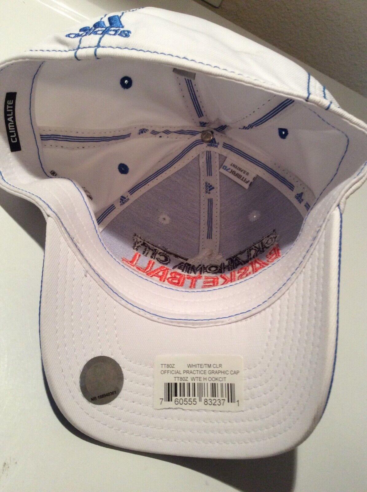 Oklahoma City Thunder Adidas NBA Adjustable Hats L/XL New W/ Tags - $17.95