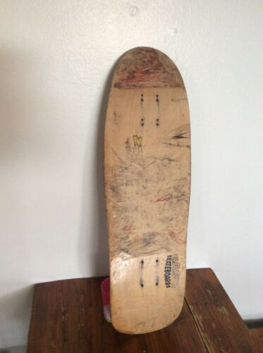 HTF. 1990 Basic Skateboard deck team model  naked guy