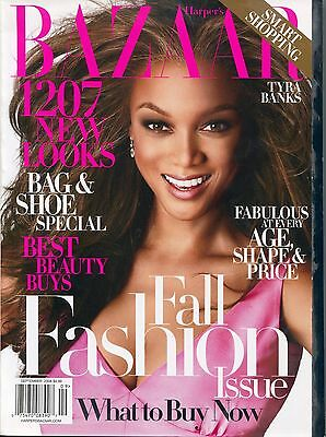 Harpers Bazaar Magazine September 2008 9 08 Tyra Banks B 3 1